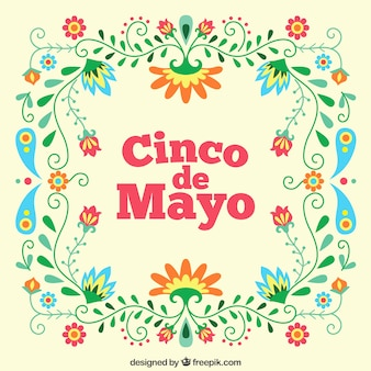 Floral cinco de mayo background