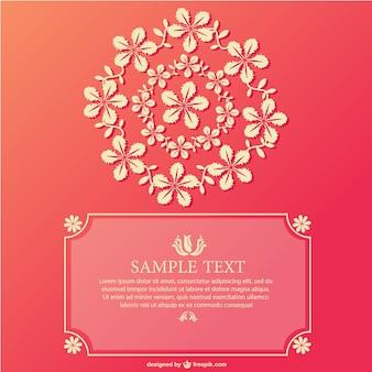 Floral circle card