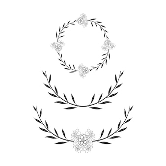 Floral circle frame simple wedding wreath
