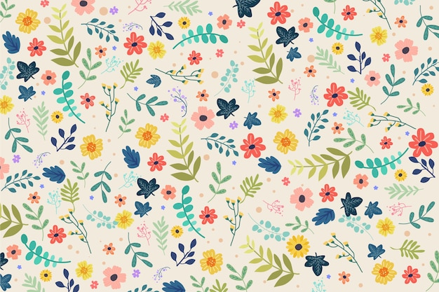 Floral colorful ditsy background