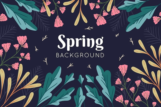 Floral colorful spring background
