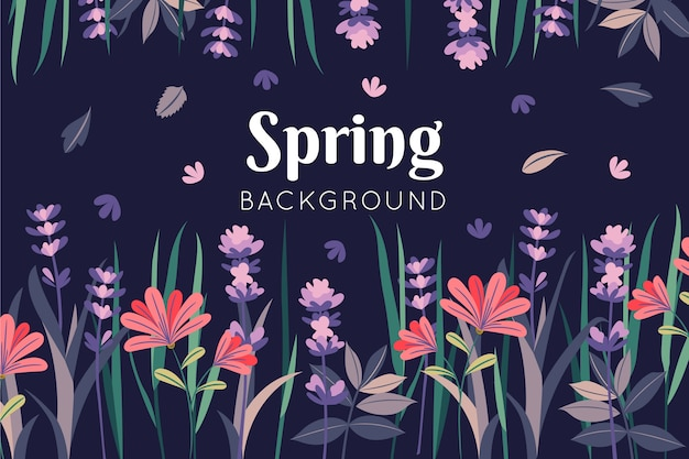 Floral colorful spring wallpaper