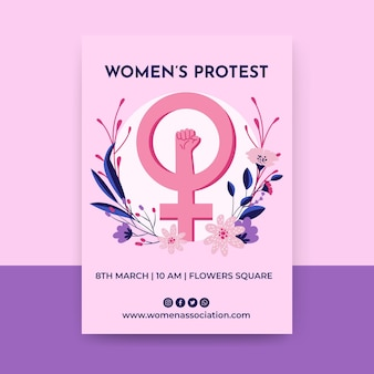 Floral colorful women's day flyer
