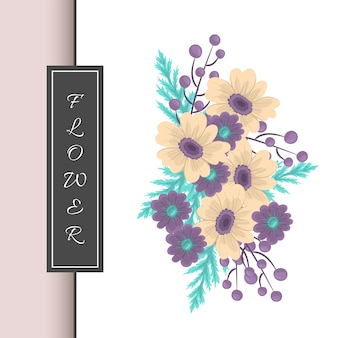 Floral composition with colorful flower.