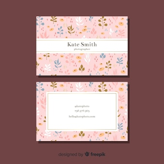 Floral concept for business card