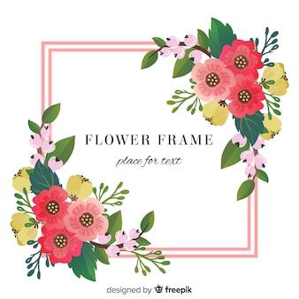 Цветочный уголок весенний фон