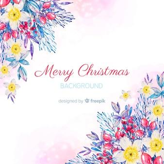 꽃 코너 크리스마스 배경