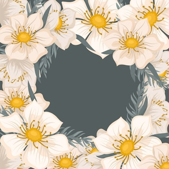美しい花と花の暗い境界線