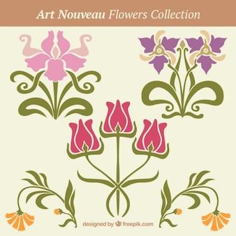 Decorazione floreale in stile art nouveau