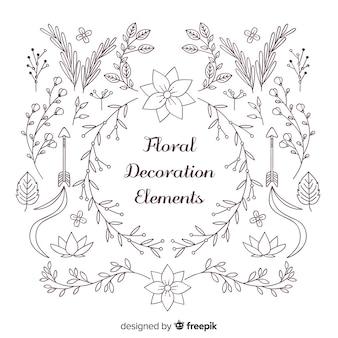 Floral decoration element collection