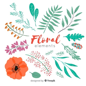 Floral decoration elements