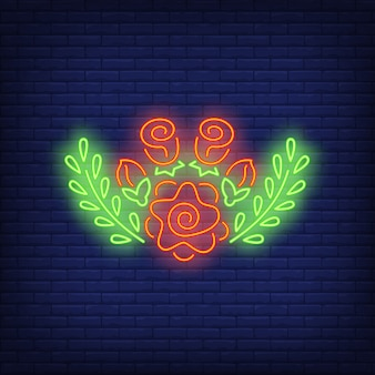 Floral decoration neon sign