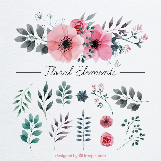 watercolor flowers vectors photos and psd files free download rh freepik com free floral clipart free floral clip art