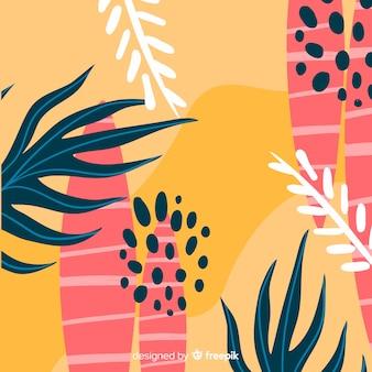 Floral decorative background flat design