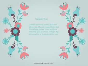 Floral Decorative Background with Flowers