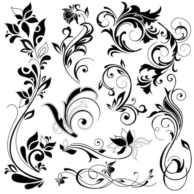 floral ornaments vectors photos and psd files free download Floral Art Designs floral decorative elements