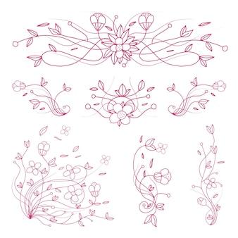 花の装飾的な要素