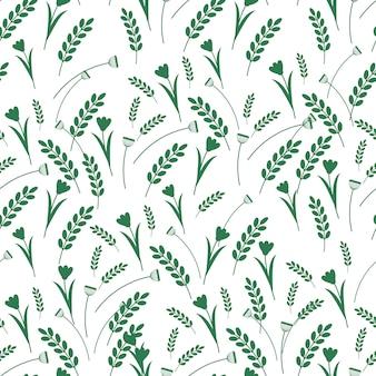 Floral decorative seamless pattern