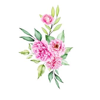 Floral design bouquet wedding card template
