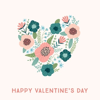 발렌타인 데이 및 기타 사용자를위한 꽃 무늬 디자인 개념.