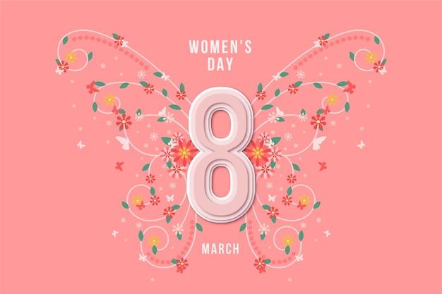 여성의 날 축하를위한 꽃 무늬 디자인