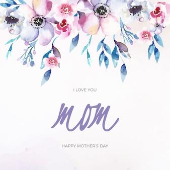 花柄母の日のお祝い