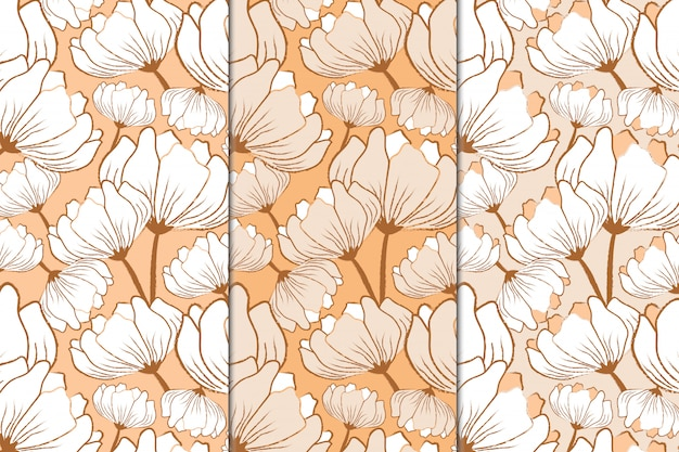 Floral design repeat pattern