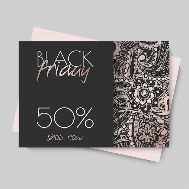Floral design template for black friday sale