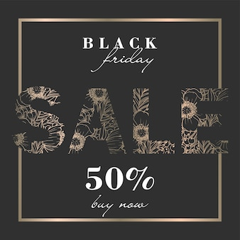 Floral design template for black friday sale