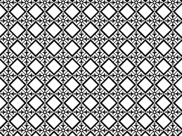 Floral diamond shaped pattern  vector