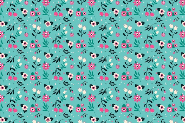 Floral ditsy background