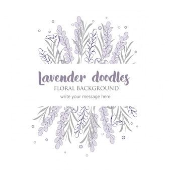 Floral doodles border