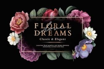 Открытка с цветочными мечтами