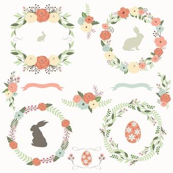 Цветочная коллекция пасхальных венков