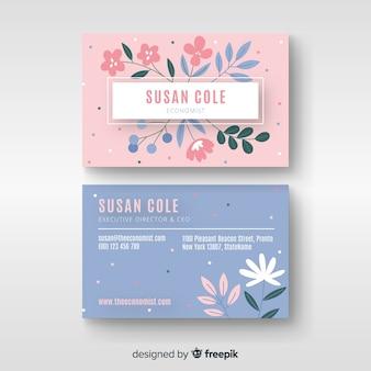 Floral elegant business card template
