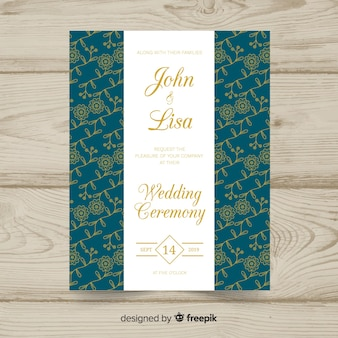 Floral elegant invitation card template