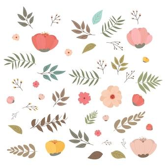 Набор цветочных элементов