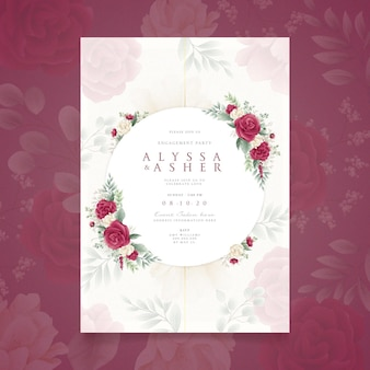 Floral engagement invitation design
