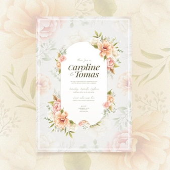 Floral engagement invitation style