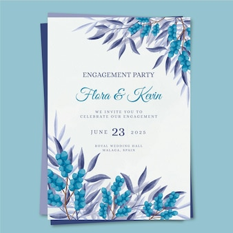 Floral engagement invitation