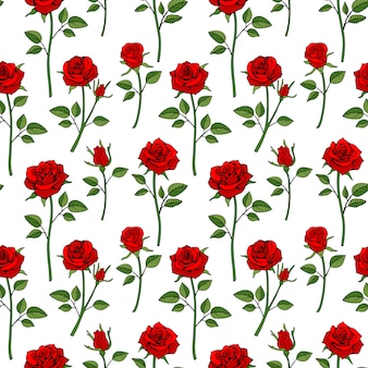 Floral english victorian seamless background
