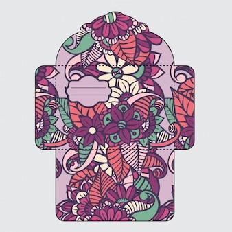 花封筒デザイン