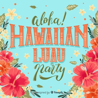 Floral explosion luau background