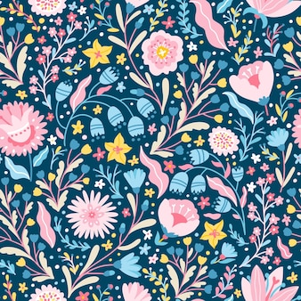 Floral fabulous seamless pattern