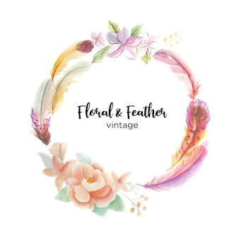 Floral & feather
