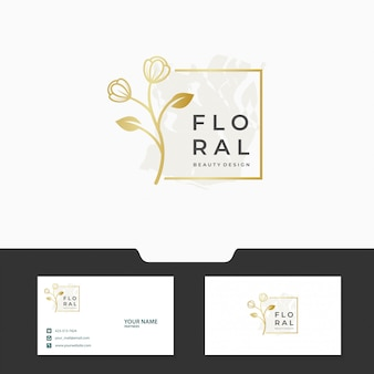 Floral / feminine logo template