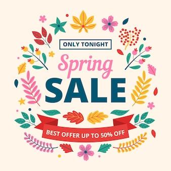 Floral flat design spring sales
