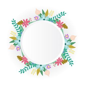 花の花のフレームカードのデザイン