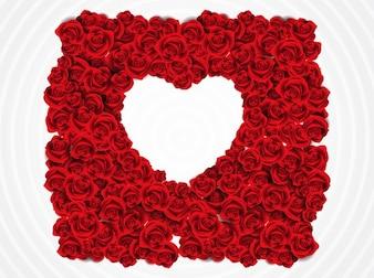 Floral flower Heart frame vector