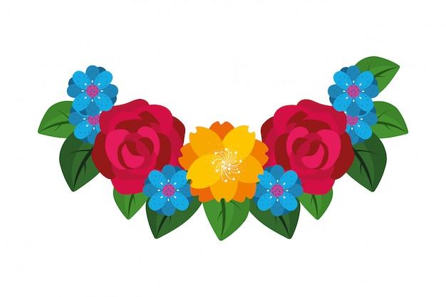 Floral flowers cartoon